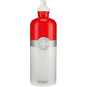 SIGG Swiss Logo Trinkflasche rot/weiß