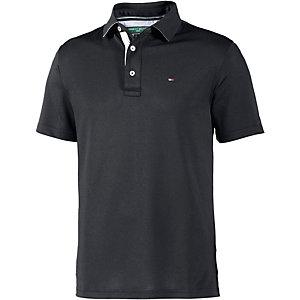 Tommy Hilfiger SS Solid Pique Polo Poloshirt Herren schwarz