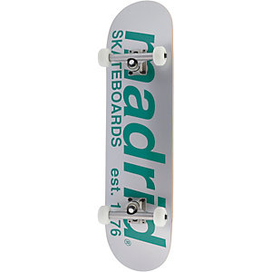 "Madrid Skateboard 8 1/8"" Street Silver Est.Logo Skateboard-Komplettset silberfarben/grün"