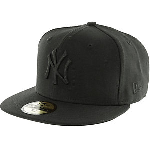 New Era 59fifty Black on Black NY Yenkees Cap schwarz