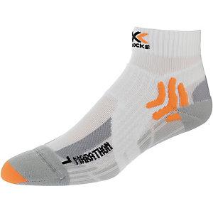X-SOCKS Marathon Laufsocken weiß/orange