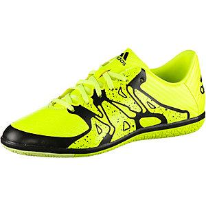adidas X 15.3 IN Jr Fußballschuhe Kinder neongelb/schwarz