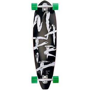 """Madrid Longboard Rocker Pintail 37,5"""" Strokes Longboard-Komplettset schwarz/weiß"""