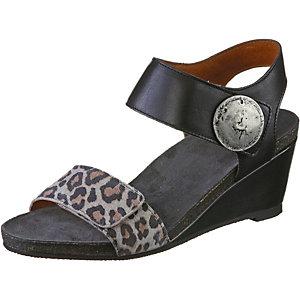 Ca´Shott Sandalen Damen schwarz/leopard