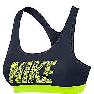 Nike Pro Classic Logo Sport-BH Damen schwarz/neongelb