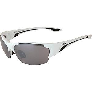 Uvex Blaze III Sonnenbrille weiß/schwarz