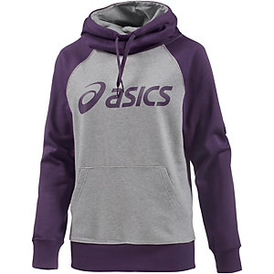 ASICS Knit Hoodie Damen grau/lila