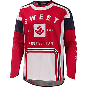Sweet Protection Mission Jersey Fahrradtrikot Herren orange/weiß/blau