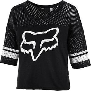 Fox Wrath Printshirt Damen schwarz