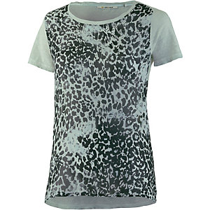 Rich & Royal T-Shirt Damen hellblau/leo