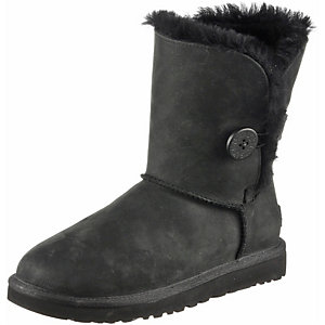 Ugg Australia Classic Button Leather Bootie Damen schwarz