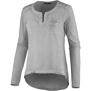 TOM TAILOR Langarmshirt Damen grau