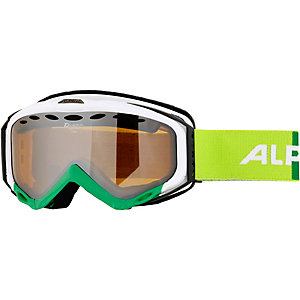 ALPINA TURBO HM Skibrille green-white/HM orange S2