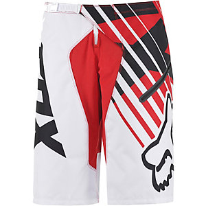 Fox Demo Bike Shorts Herren weiß/rot
