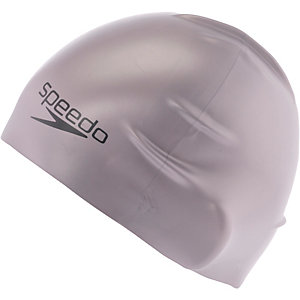 SPEEDO Plain Moulded Silicone Cap Badekappe silberfarben