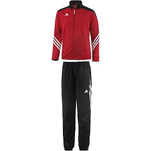 adidas Trainingsanzug Kinder rot/schwarz