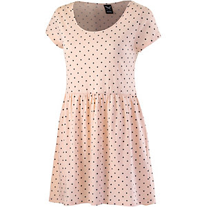 iriedaily Hot Dot Dress Kurzarmkleid Damen rosa