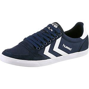 hummel Slimmer Stadil Low Sneaker Damen blau/weiß