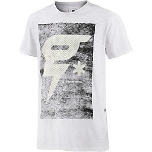 G-Star T-Shirt Herren weiß/grau