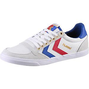 hummel Slimmer Stadil Low Sneaker Damen weiß/blau/rot
