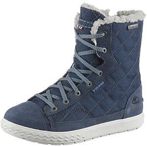 Viking Zip Stiefel Mädchen blau