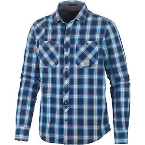 PME LEGEND Langarmhemd Herren blau/weiß
