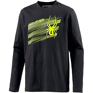 Spyder Graphic Shirt Langarmshirt Herren schwarz/limette
