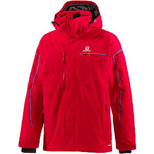 Salomon Brilliant Skijacke Herren rot
