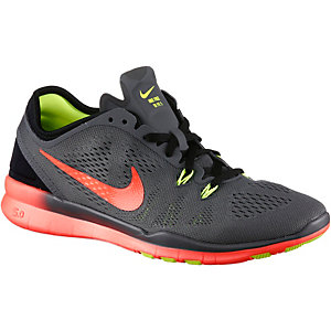Nike Free 5.0 Trainer Fitnessschuhe Damen grau/orange