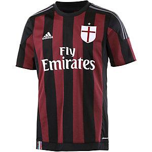 adidas Milan 15/16 Heim Fußballtrikot Herren schwarz/rot