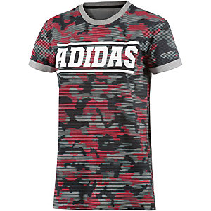 adidas T-Shirt Damen grau/braun/grün