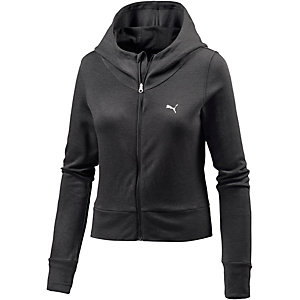puma sweatjacke damen schwarz im online shop von sportscheck kaufen. Black Bedroom Furniture Sets. Home Design Ideas
