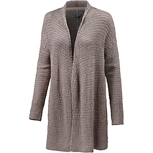 TOM TAILOR Strickjacke Damen beige/grau