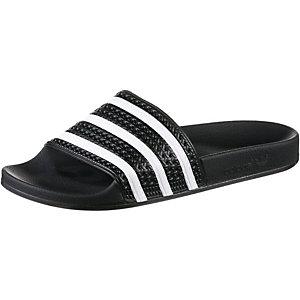 adidas Adilette Sandalen schwarz/weiß