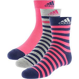 adidas Socken Pack Kinder pink/navy/graumleange