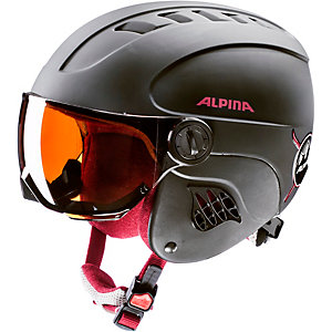 ALPINA CARAT LE VISOR HM Skihelm black-red matt