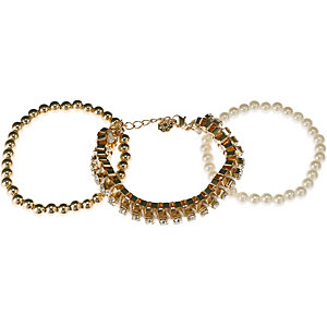 Pieces Armband Damen gold
