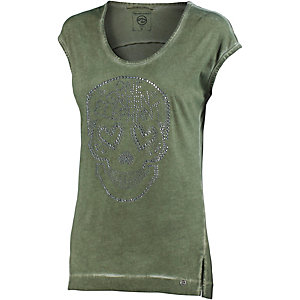 One Green Elephant T-Shirt Damen washed green