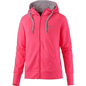 adidas sweatjacke damen rot grau im online shop von. Black Bedroom Furniture Sets. Home Design Ideas