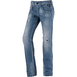 REPLAY New Swenfani Straight Fit Jeans Damen destroyed denim
