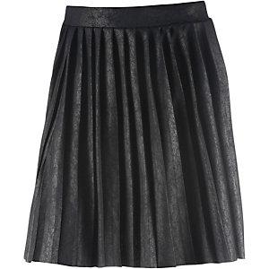 Ichi Faltenrock Damen schwarz