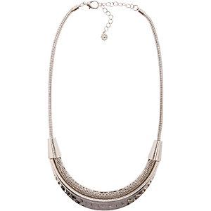 Pieces Halskette Damen silber