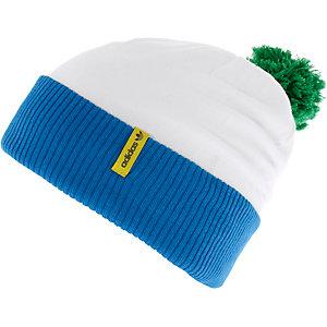 adidas Pom Pom Bommelmütze weiß/blau/grün