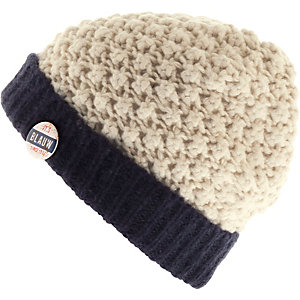 Maison Scotch Beanie Damen offwhite/navy