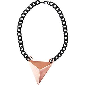 Ichi Halskette Damen schwarz/bronze