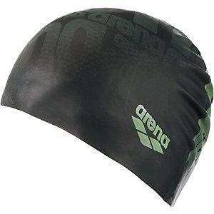 Arena Print Badekappe schwarz/grün