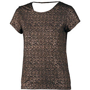 Ichi Printshirt Damen schwarz/bronze