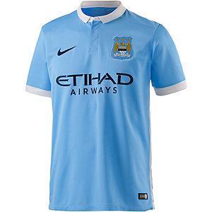 Nike Man City 15/16 Heim Fußballtrikot Herren hellblau/weiß