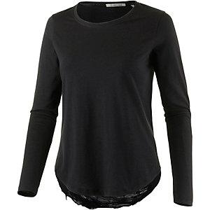 Rich & Royal Langarmshirt Damen schwarz