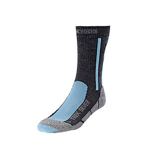 X-SOCKS Trecking Silver Wandersocken Damen anthrazit/hellblau